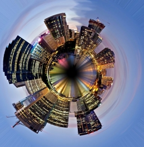 The first distorted city was Brisbane