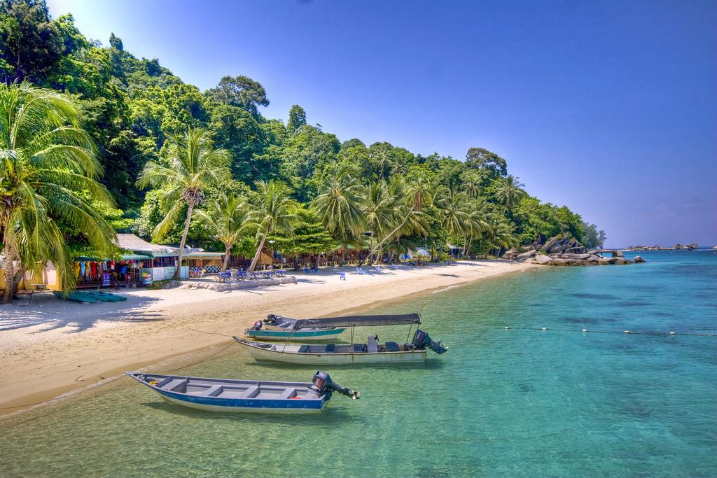 Typical beach of East Coast Malaysia