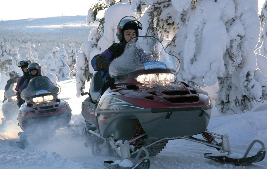 Snowmobile in Finland