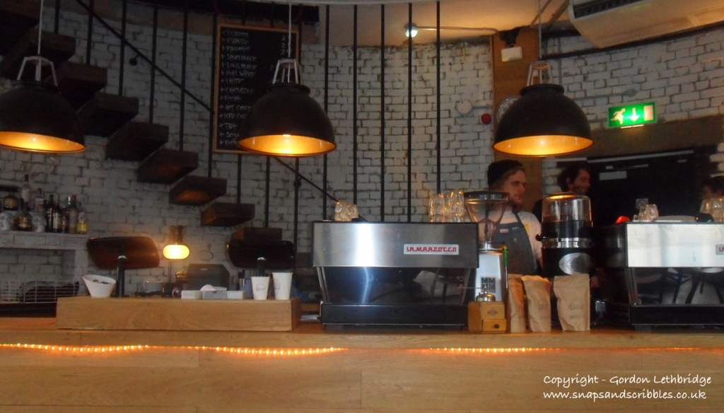 The coffee bar at Shoreditch Grind