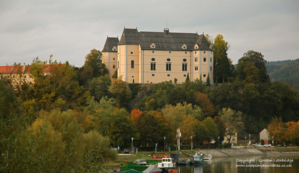 Grein Castle, a welcome sight at the end of the first day.