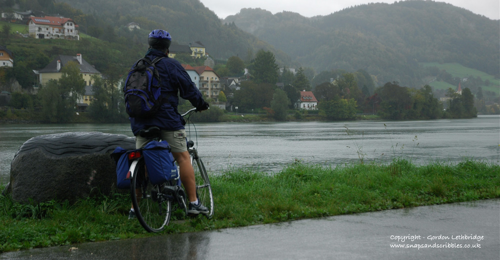A rain and wind-lashed Danube is definitely not blue
