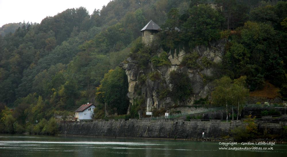 The dark brooding Werfenstein Castle