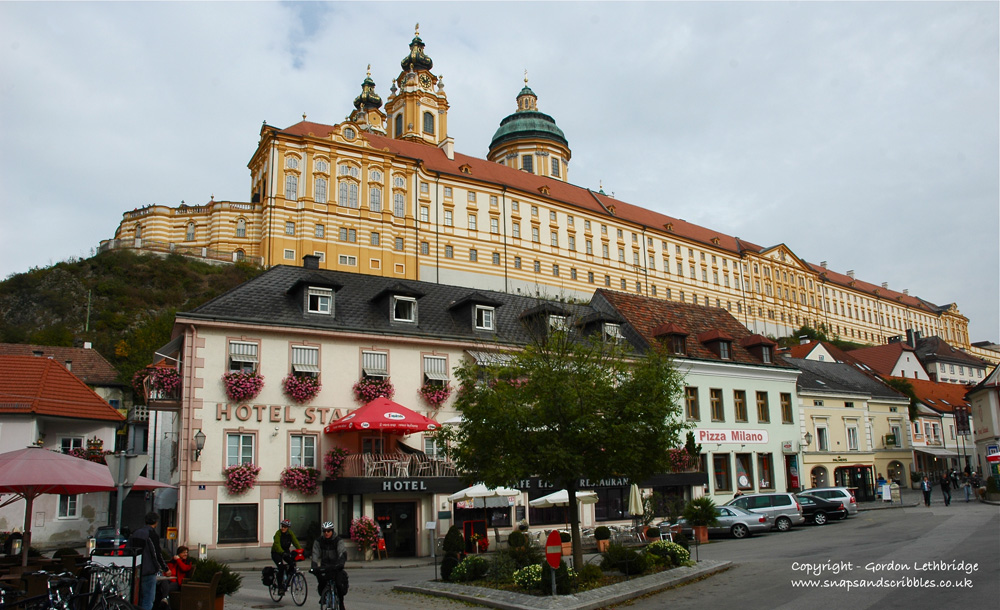 The abbey at Melk on the Danube
