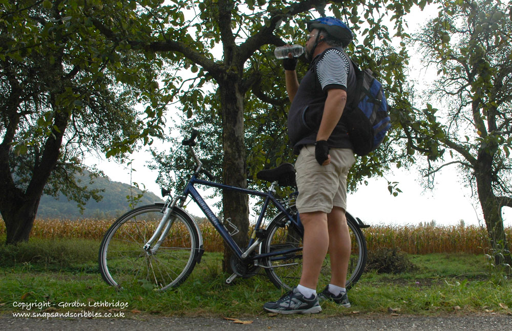 A stop for refreshment on the Danube Cycle Path
