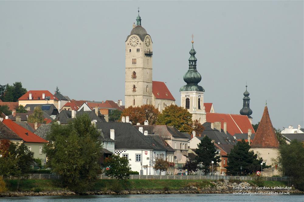 University town of Krems on the River Danube