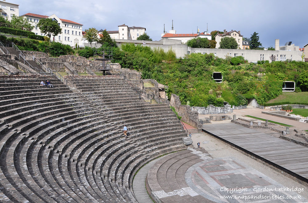 The Gallo-Roman theatre on the Fourviere Hill.