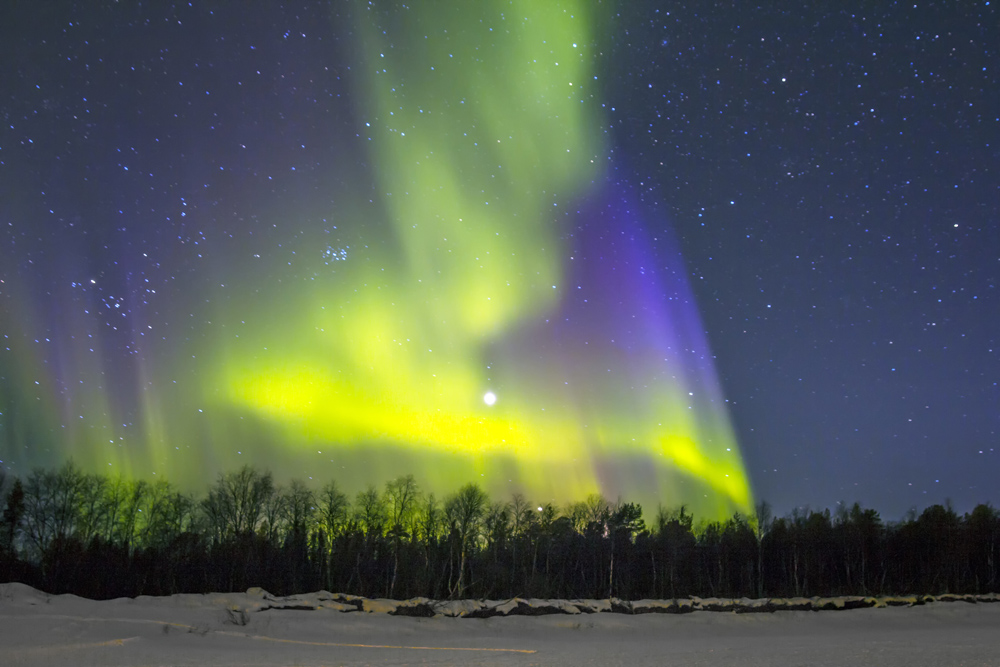 The Northern Lights are best seen in wilderness locations where there is little light pollution © Joerg Hackemann - source: www.depositphotos.com