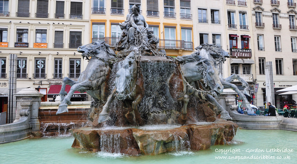 Fountain created by Bartholdi who also created the Statue of Liberty