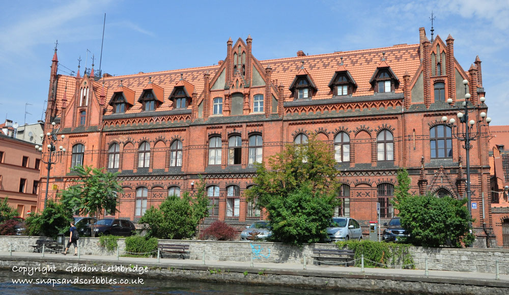 The Old Post Office - a fine example of Red Brick Neo-Gothic architecture on the banks of the Brda River