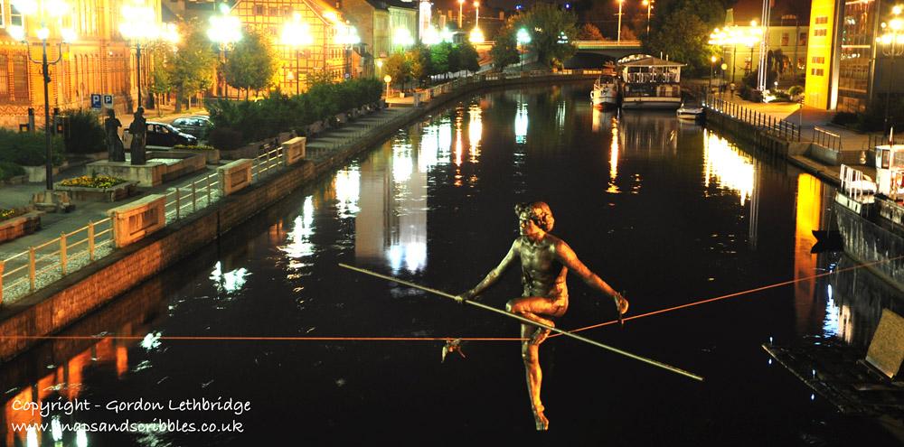 Bydgoszcz at night
