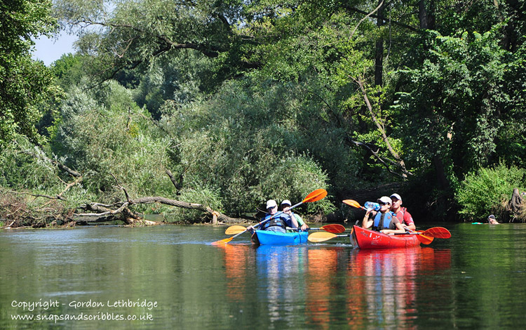 Pausing for a break among the trees lining the banks or the River Brda