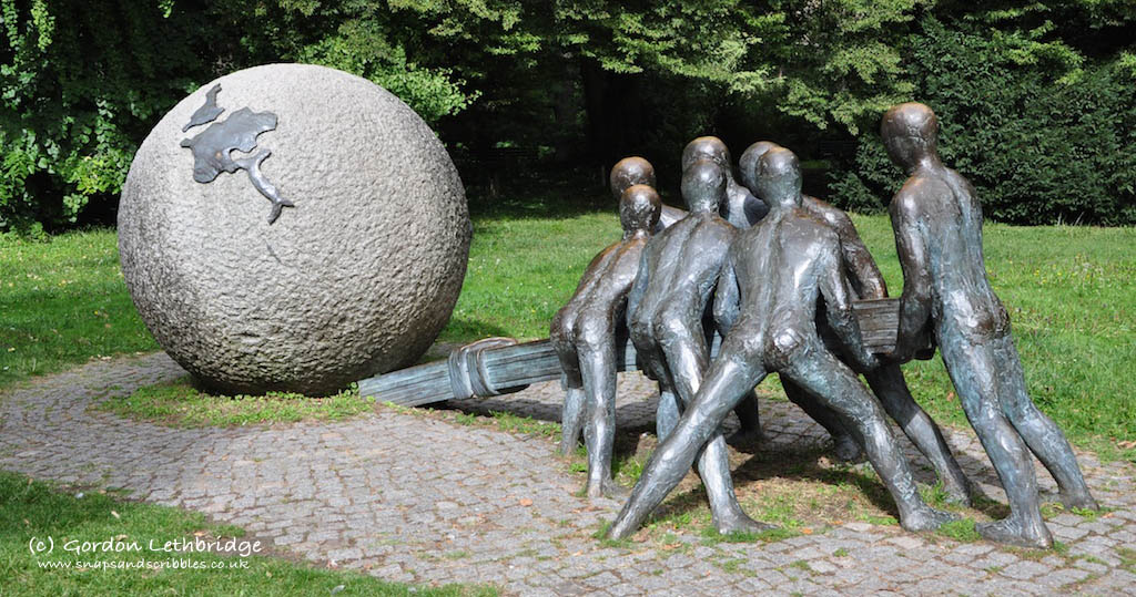 Numerous contemporary sculptures can be found around the park