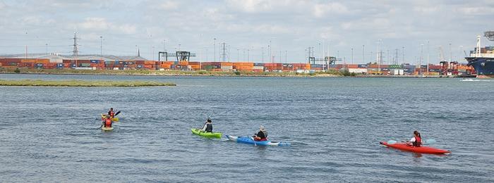 Kayaking close to home