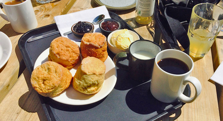 The cream tea served at Watersmeet
