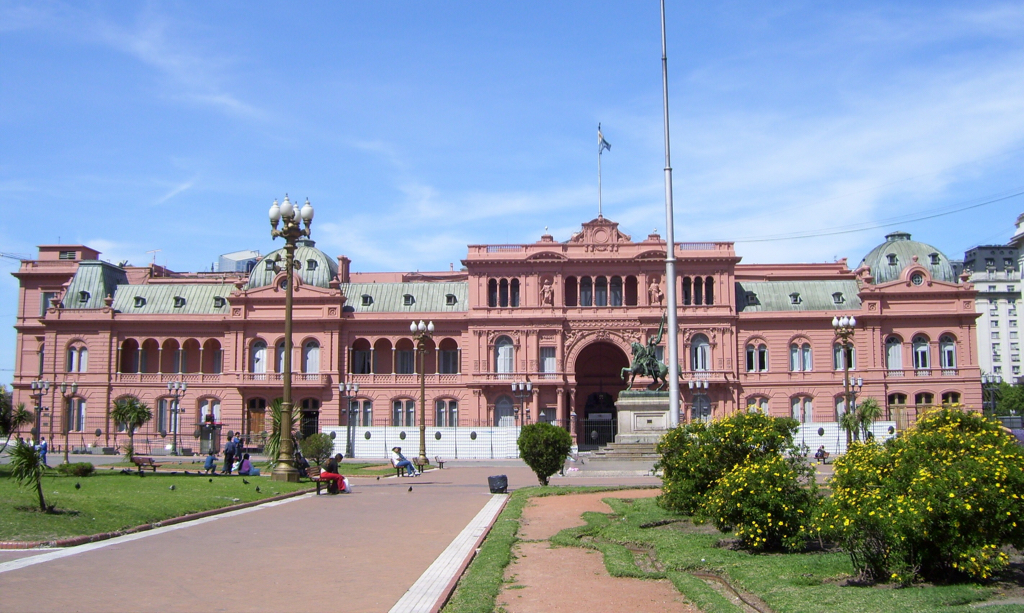 """Don't Cry for Me Argentina"" - the CAsa Rosada in Buenos Aires"