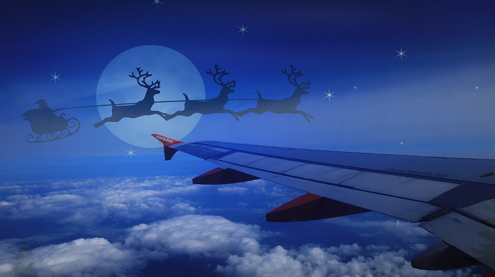 """Was that Santa Claus I saw or an easyjet flight to Lisbon?"""