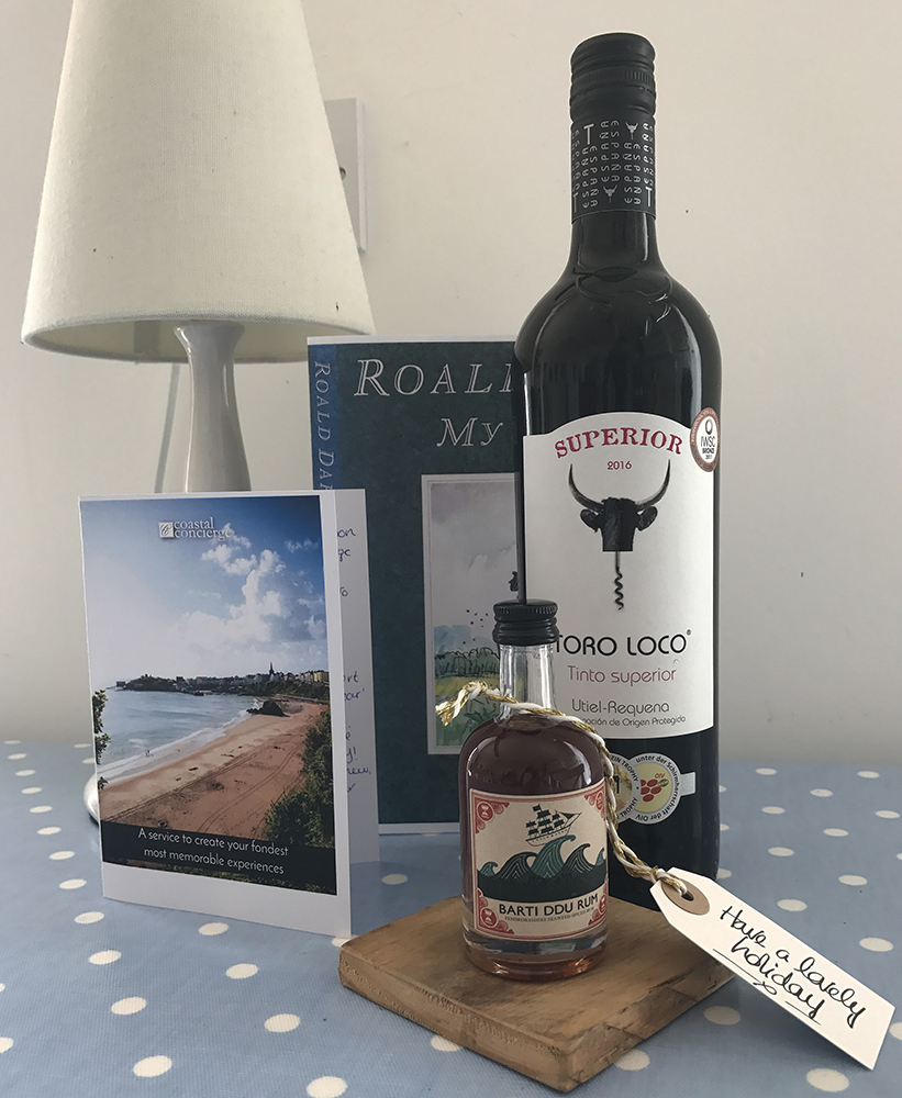 Local goodies from Coastal Cottages at Sheraton View, Tenby