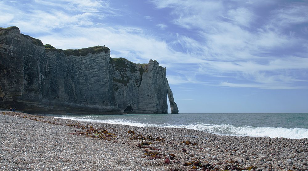 The white cliffs of Etretat were often the subject of Impressionist paintings