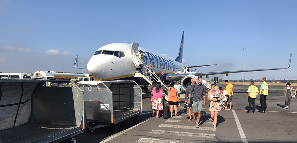 Bournemouth airport with Ryanair